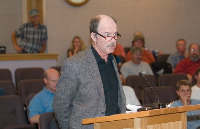 City Council candidate Kevin Bennett spoke during Steamboat Springs City Council's meeting with the residents of West Acres Mobile Home Park on Tuesday and used the opportunity to criticize Councilwoman Cari Hermacinski, his opponent in this year's election. Some found the move distasteful.