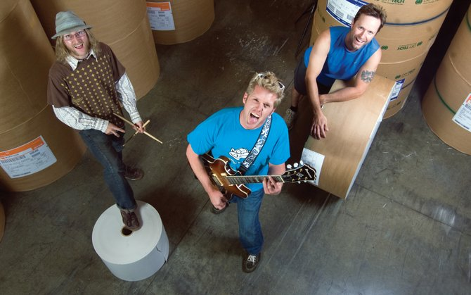Front man Chris Walsh, center, joins drummer Peter Heitz, left, and bass player Andy Pratt to form the band Trouble or Nothing. The band is hosting its debut CD release party at the Depot Art Center from 7 to 10 p.m. Friday. The band is scheduled to start playing at 8 p.m.