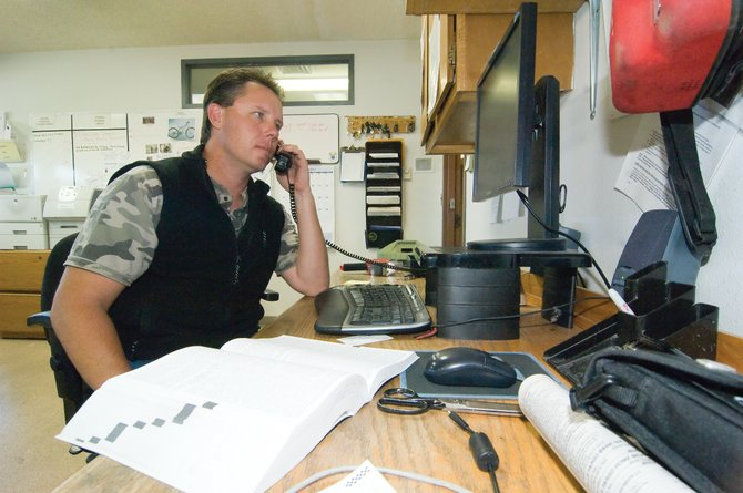Steamboat Springs Investigator Nick Bosick uses his phone and computer to help track down fraud cases that impact the residents of Steamboat Springs. Identity theft is the fastest grown crime in the United States according to Capt. Joel Rae.