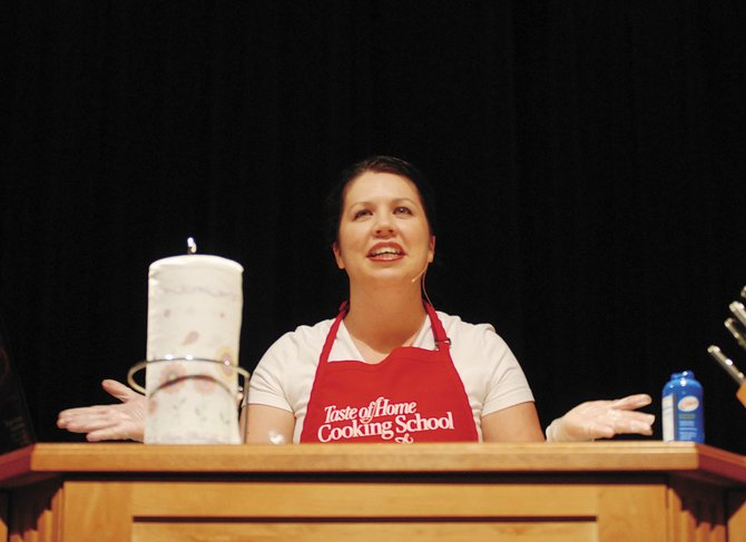 Kristi Larson leads the 2007 Taste of Home Cooking School at Moffat County High School. Doors open at 5 p.m. Monday, and the show begins at 7 p.m. inside the high school's auditorium. Tickets are $7 in advance and $10 at the door.