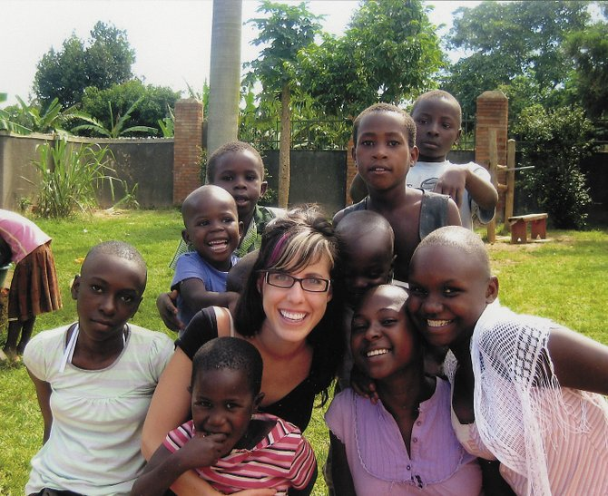 Jessica Schlapkohl, pictured in an earlier trip to Uganda, returns Sept. 30, to work for two and a half months at an orphanage with Steamboat-based Come, Let's Dance.