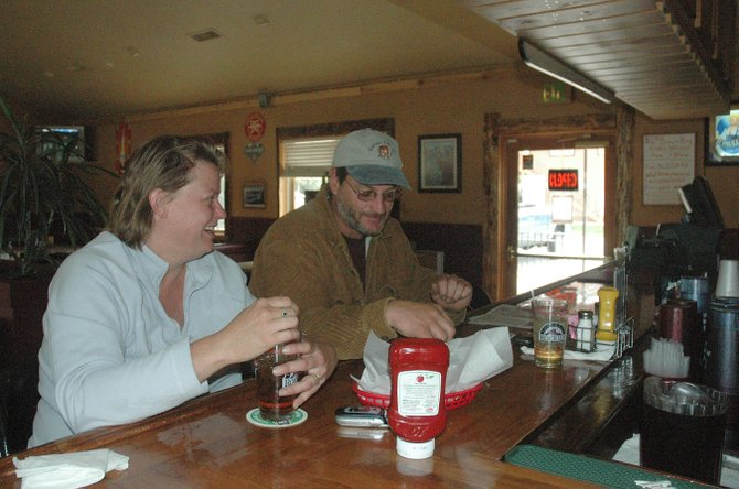 Kathy and Shawn Sulzner stopped by the Creek  View Grill for lunch Tuesday when they saw it had reopened.