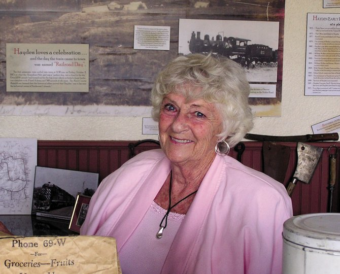 Hayden resident Donna Hellyer was given the Historic Preservation Leadership Award on Thursday for championing historic preservation across Routt County.