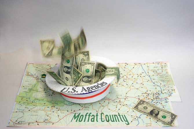 Some local officials see a disparity between recovery act funding for federal agencies and local agencies as a sign the money won't have a large affect on Moffat County and its residents.