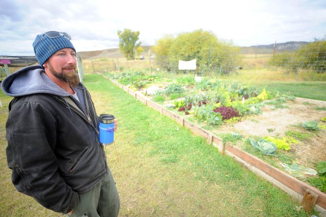 Paulie Anderson, manager at the South Routt Nursery, talks Thursday about the success of the community garden.