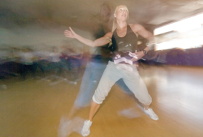 Zumba instructor Renee Fleischer runs a class at Northwest Ballet Studio in downtown Steamboat Springs.