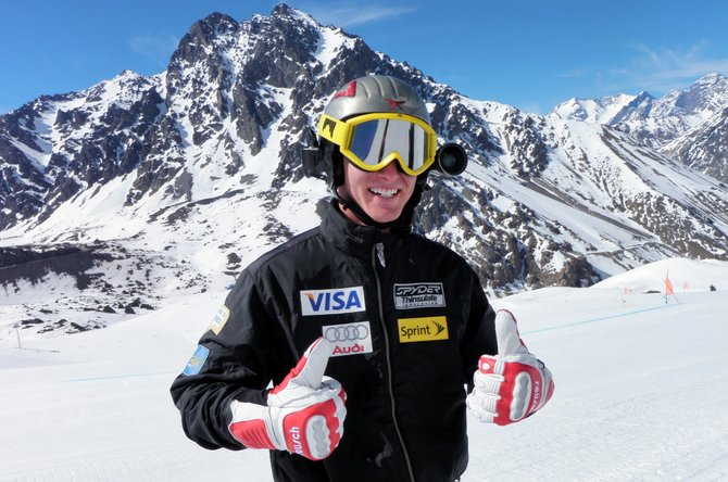 Rob Zehner poses high in the Chilean Andes Mountains. Zehner won a trip to train with the U.S. Ski Team as it prepared for the coming Olympic season. Zehner, who graduated from Steamboat Springs High School, won the trip by winning the men's championship at last spring's NASTAR National Championships at Steamboat Ski Area. Steamboat skier Kersten Scherer, the NASTAR women's champ, also earned a trip to Chile.