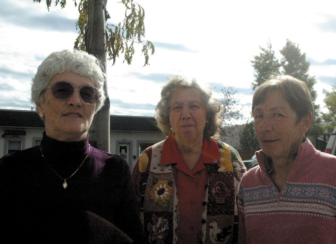 The Moffat County Cowbelles organization is trying to bolster its membership. Some current members are, from left, president Arloa Gerber, vice president Dollie Frentress and secretary Vivian Murray.