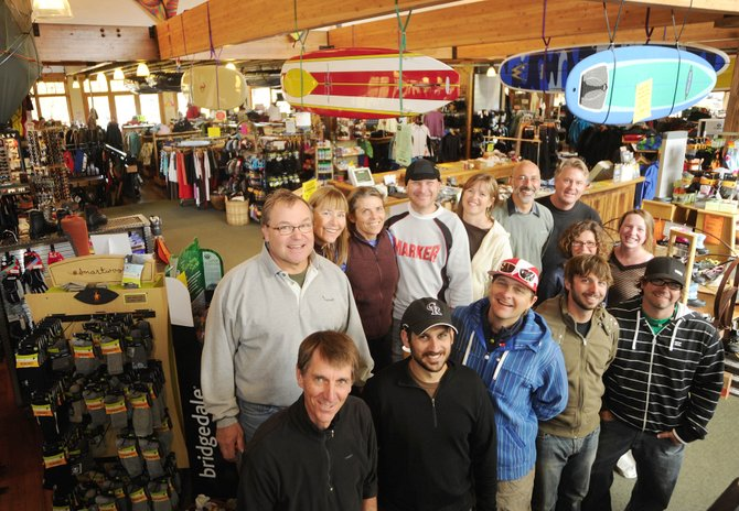 Ski Haus has become a fixture for outdoor equipment throughout the years. The store is celebrating its 40th anniversary this weekend. Owner Rod Schrage, top left, opened the store when he was 19.