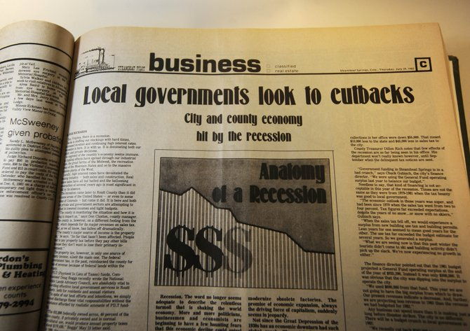 This Steamboat Pilot headline from July 1982 is strikingly reminiscent of what local government is dealing with today.