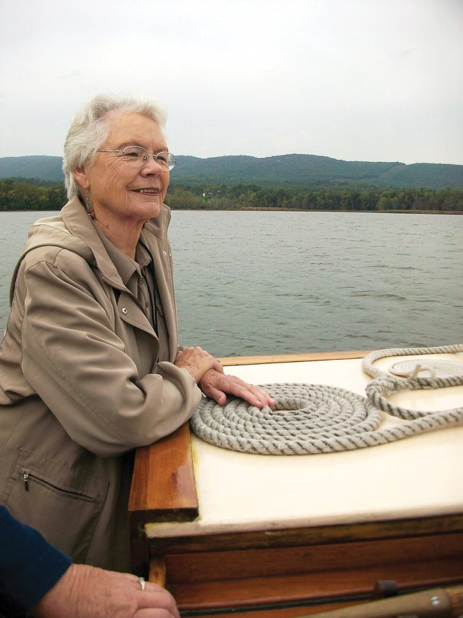 Peggy Gonzales, of Craig, enjoys the breeze on a cruise on Lake Champlain in Vermont. Thirty-one Northwest Coloradans went on a six-day trip to Boston and Vermont as a part of Colorado Northwestern Community College's Continuing Education program.