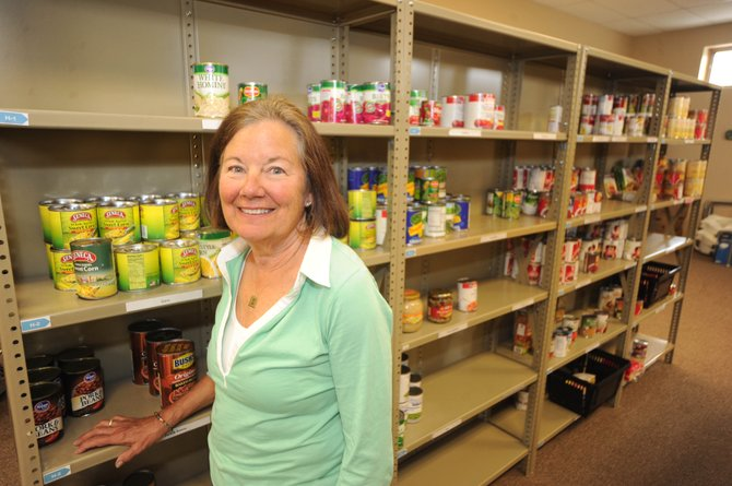 LIFT-UP of Routt County Food Bank volunteer Patty Wirschem's church, the Steamboat Christian Center, is trying to collect a ton of food this month for the food bank.