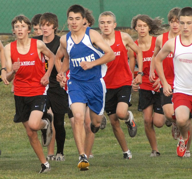 Steamboat Springs High School boys took part in the Rifle Invitational cross-country meet Thursday.