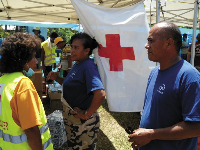 Members of Steamboat Springs resident Pio Utu's family including his sister, Sose, center, and brother-in-law Fono Fepulea'i, right, help with disaster relief in Samoa, which is rebuilding after a Sept. 29 earthquake and tsunami. A benefit for relief efforts is Saturday at Steamboat Springs High School.