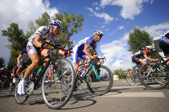 Cyclists compete in the Sept. 7 Steamboat Ski & Bike Kare Criterium event, which was the final event in the inaugural four-day Steamboat Springs Stage Race. Some say the Stage Race, along with new races and additional biking trails, could boost Steamboat's image as a cycling destination.