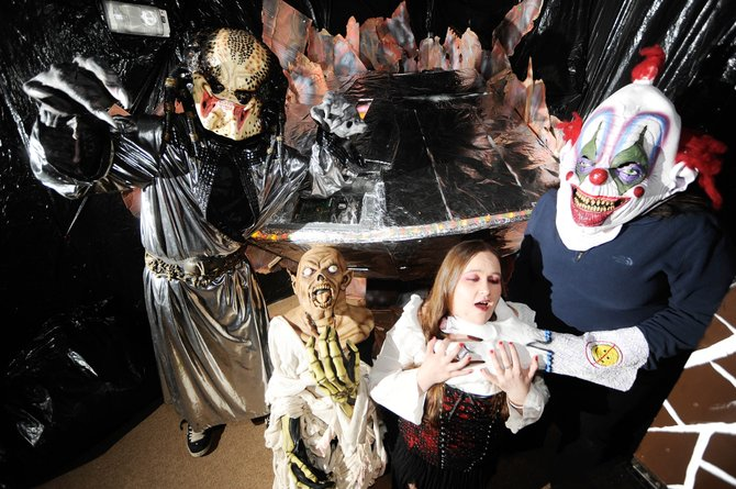 "Colorado Mountain College's ""Screamboat Chamber of Horror"" performers, from right, Courtney Brown, Ariel Marchand, Wyatt Wilson and Bryant Finley will be dishing out the scares from 6 to 10 p.m. tonight, Friday and Saturday."