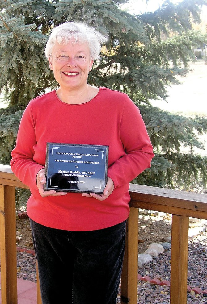 Marilyn Bouldin, of Salida, a 42-year career nurse, recently received a lifetime achievement award from the Colorado Public Health Association.