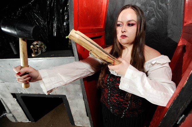 "Ariel Marchand is one of the performers in this year's Colorado Mountain College ""Screamboat Chamber of Horror!"" The haunted house continues tonight and tomorrow from 6 to 10 p.m. Tickets are $5 at the door."