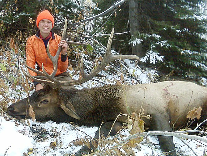 Scott Powers poses with the elk he shot Oct. 10 on Mount Werner.