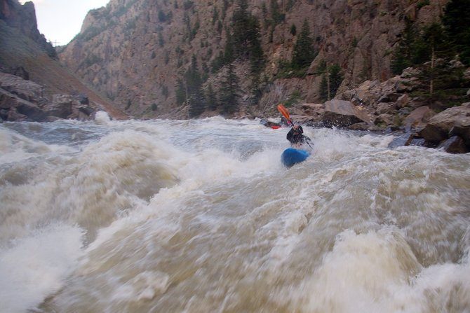 Dan Piano works his way down the Tunnel Falls at Gore Canyon earlier this year. Piano and Steamboat's most dedicated kayakers hit the canyon constantly in the fall when other boating hot spots dry up.