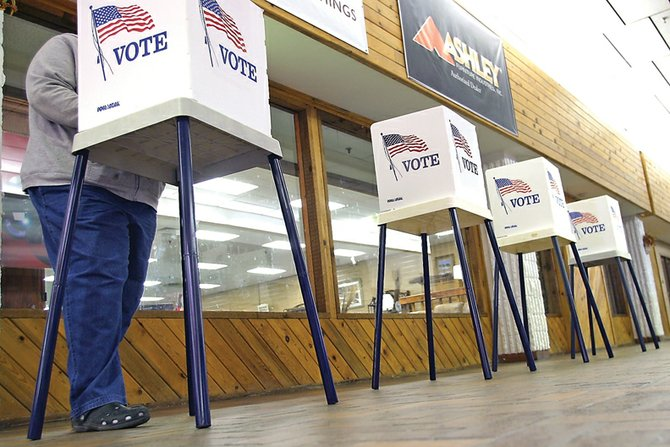There were more than enough polling booths set up to accommodate Craig and Moffat County voters Tuesday at the Centennial Mall voting center. However, the 11.5 percent turnout tied the county's lowest voter turnout for a non-primary election since 1990, other than two primaries in 2000 and 2008.