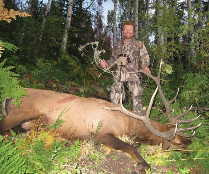 Opinions vary about this year's hunting seasons, but things went pretty well for Cedar Beauregard, who shot this elk during bow season this fall. He took down another the same day.