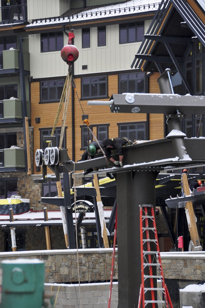 When it opens in February, the Wildhorse Gondola will deliver passengers to a new terminal adjacent to One Steamboat Place.