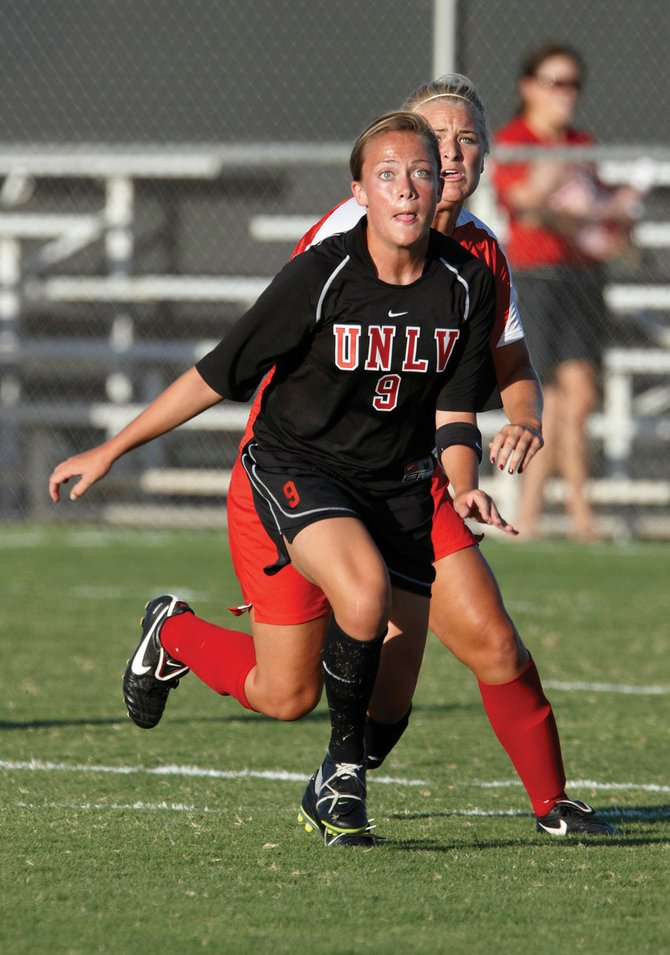 University of Nevada Las Vegas soccer player Kelly Labor plays in a game against Ohio State on Sept. 9 at Johann Field. Labor, a 2006 Steamboat Springs High School graduate, ended her college soccer career Oct. 31.