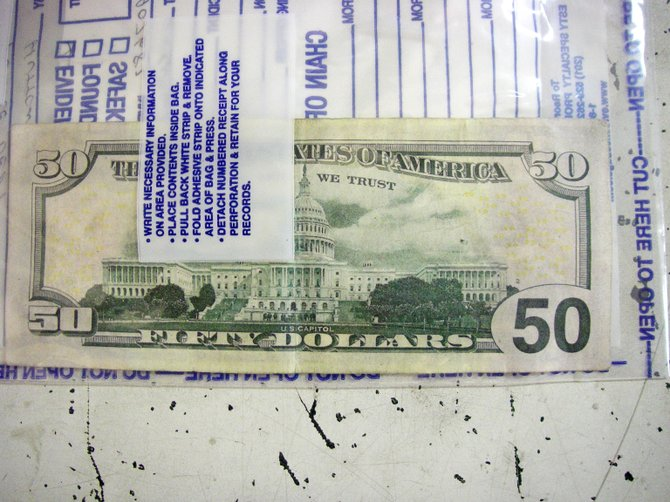 Police say this counterfeit $50 bill was passed at a Steamboat Springs convenience store in October. Police say this bill was not of especially high quality.