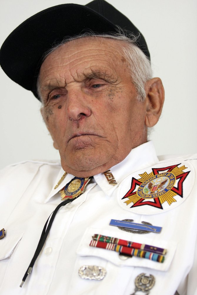 Decorated World War II veteran Ray Wagner, 85, told stories from his days serving in North Africa, Italy and Greenland on Friday afternoon. Wagner received three Bronze Stars, one Silver Star, three Purple Hearts and a Presidential Citation of Valor during his service in the Army.