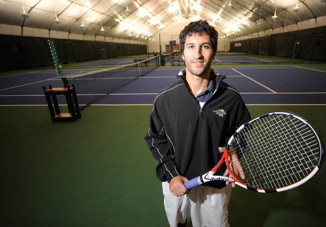 Greg Sussman, 23, joins the teaching staff as a pro at the Tennis Center at Steamboat Springs.