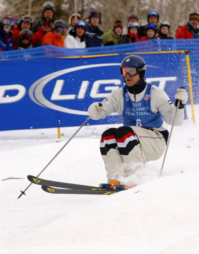 Steamboat skier Travis Mayer skis in the moguls competition during the Olympic Trials in Steamboat Springs before the 2006 Winter Olympics. The Olympic qualifier event is returning to Steamboat on Dec. 23 and 24.