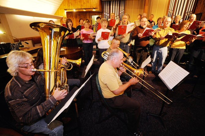 The Yampa Valley Singers rehearse Saturday for their 6 p.m. Tuesday concert at the Steamboat Springs United Methodist Church.