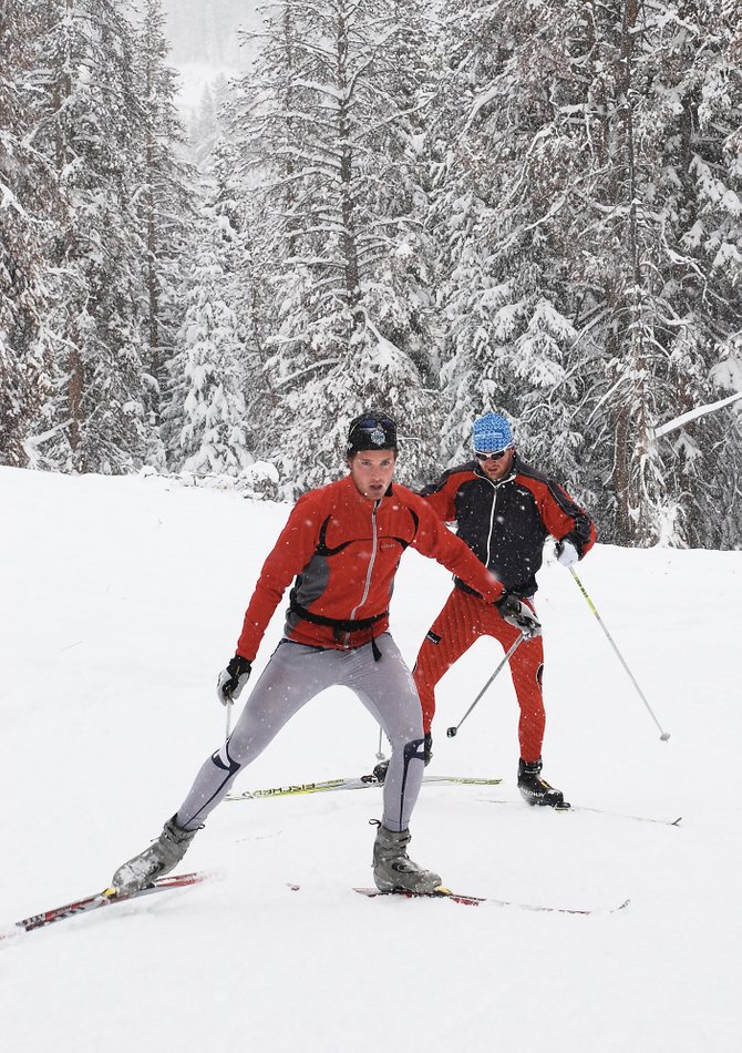 Nordic skiers enjoy soft skating conditions at Bruce's Trail on Rabbit Ears Pass on Sunday. The Steamboat Ski Touring Center also is open with 3.5 kilometers of trails in town.