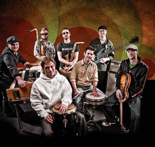 Euforquestra, a jam band that uses rhythms from cultures around the world, plays today and Saturday at The Tugboat Grill & Pub.