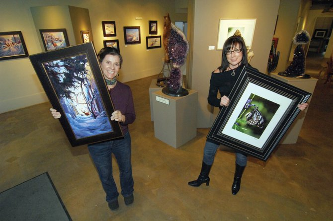 Painter Susan Gill Jackson, left, and photographer Kim Keith will be featured along with sculptor Leo Atkinson this month at the Artists' Gallery of Steamboat.