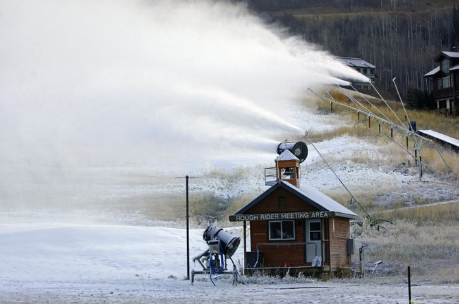 Manmade snow helped Steamboat Ski Area open last month, but skiers and riders are hoping for a big helping of natural snow with the next storm cycle.