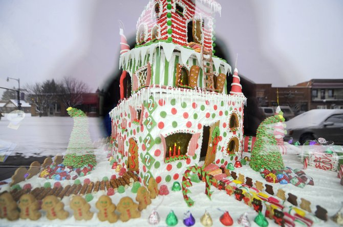 Steamboat Ski and Resort Corp. baker Jean Wernig again created a gingerbread house, which is on display in the front window at Steamboat Ski & Sport downtown in Howelsen Place.