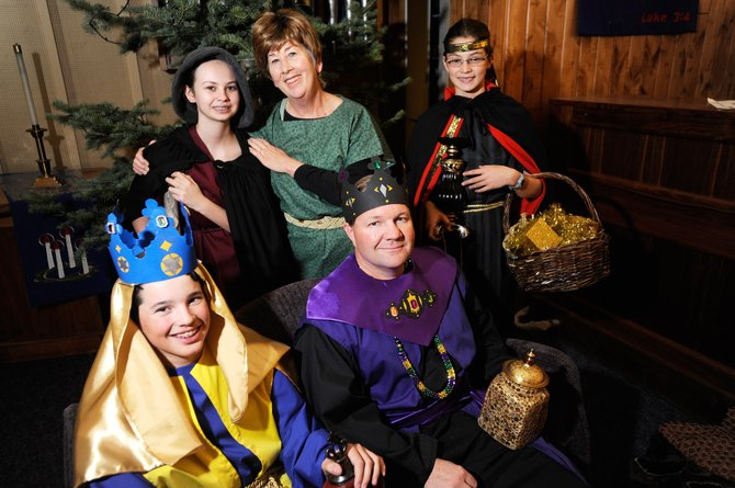 """Amahl and the Night Visitors"" opera performers, clockwise from top left, Claire Cox, Cheryl Hardy-Moore, Lark Skov, Dan Ragan and Tanner Visnick will perform at 9 and 10:45 a.m. Sunday at the United Methodist Church, 736 Oak St."