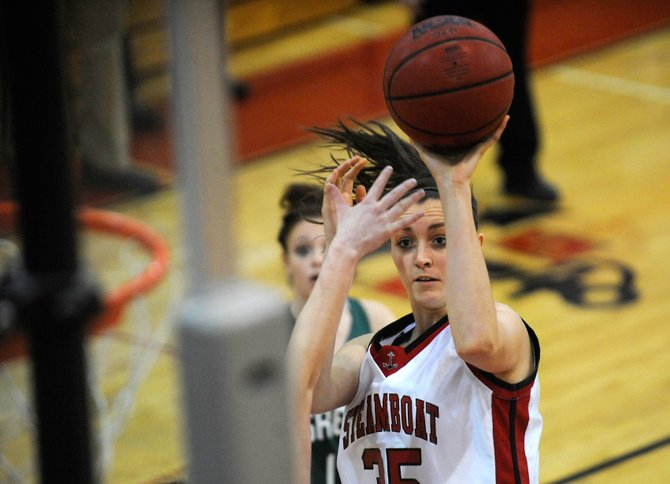 Steamboat Springs High School senior Colleen King puts up a shot during the third quarter of Saturday's game against Green River High School.