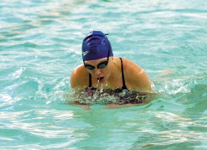 The Moffat County High School girls varisty swim team will host an invitational swim meet at 10 a.m. today.