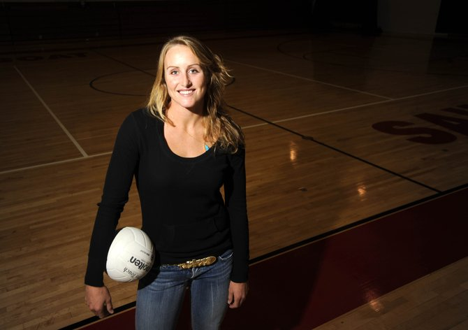 Katie Carter, a 2003 Steamboat Springs High School graduate, will put on a volleyball camp Saturday and Sunday along with her husband, Hector Gutierrez, and high school coach Wendy Hall. Carter, who played at UCLA and professionally in Spain, just came off of her rookie year on the AVP beach volleyball circuit.