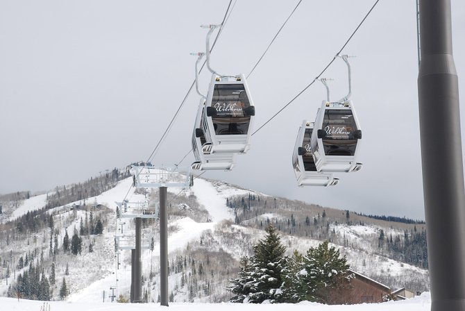 The new Wildhorse Gondola, when it opens early next year, will link two luxury condominium projects, Trailhead Lodge and One Steamboat Place, which helped boost November real estate transactions to nearly $90 million.
