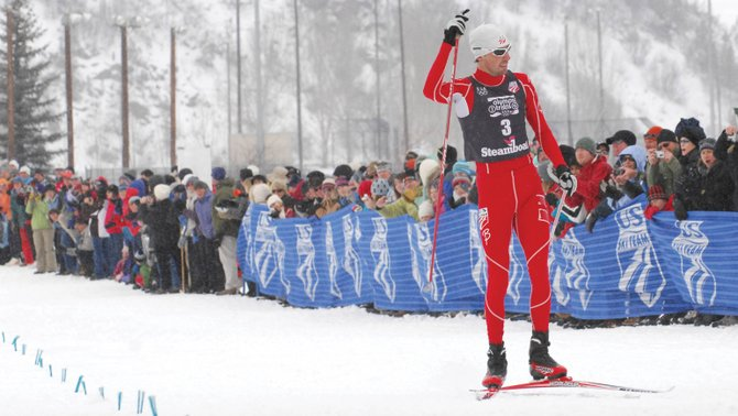 Team Trials Nordic combined race at Howelsen Hill on Wednesday. Spillane's victory clinched his spot on the U.S. team.