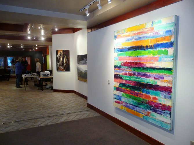 The works displayed at the new RED Contemporary art gallery in the Sheraton Steamboat Resort include those by Monroe Hodder, an internationally recognized abstract painter.