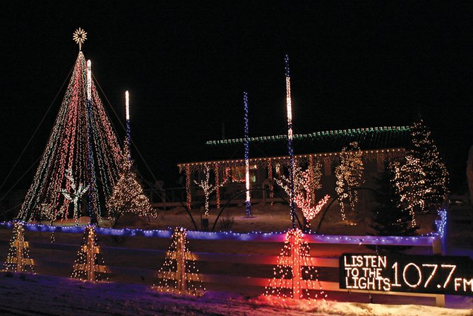 Clint Gabbert's home, 11372 County Road 103,å won the first-place prize for the third year in a row with his Christmas light show synchronized to music. He will receive a $200 credit on his next electric bill, courtesy of Yampa Valley Electric Association.