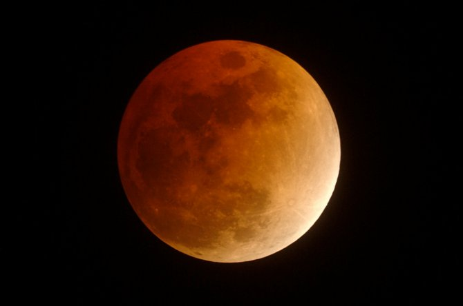 On Dec. 21, 2010, a total lunar eclipse will be visible from all of North America. The reddish color seen in this photo of the Feb. 20, 2008, eclipse is caused by sunlight refracting through Earth's atmosphere and falling on the moon. Colorado won't experience another complete total lunar eclipse until April 15, 2014.