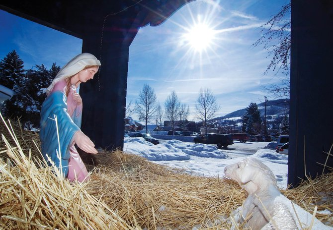 Baby Jesus, Joseph and a small lamb were stolen from in front of the Holy Name Catholic Church sometime last week. The figures were part of a Nativity, which was bolted down.