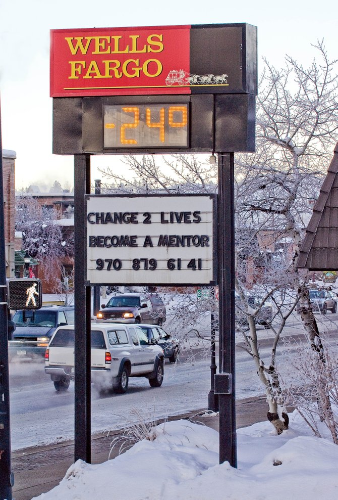 The temperature reading at Wells Fargo bank Friday morning didn't lie — it's cold outside. National Weather Service meteorologists said not to expect much of a change during the next few days, either.