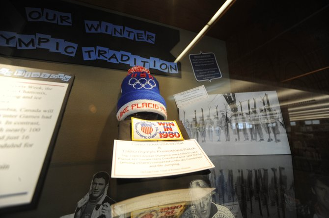 """Many local Winter Olympians are remembered in the """"Our Winter Olympic Tradition"""" display on the second floor of Bud Werner Memorial Library."""